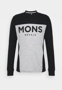 Mons Royale - REDWOOD ENDURO - Top sdlouhým rukávem - black/grey marl - 0