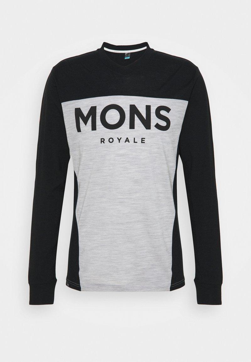 Mons Royale - REDWOOD ENDURO - Top sdlouhým rukávem - black/grey marl