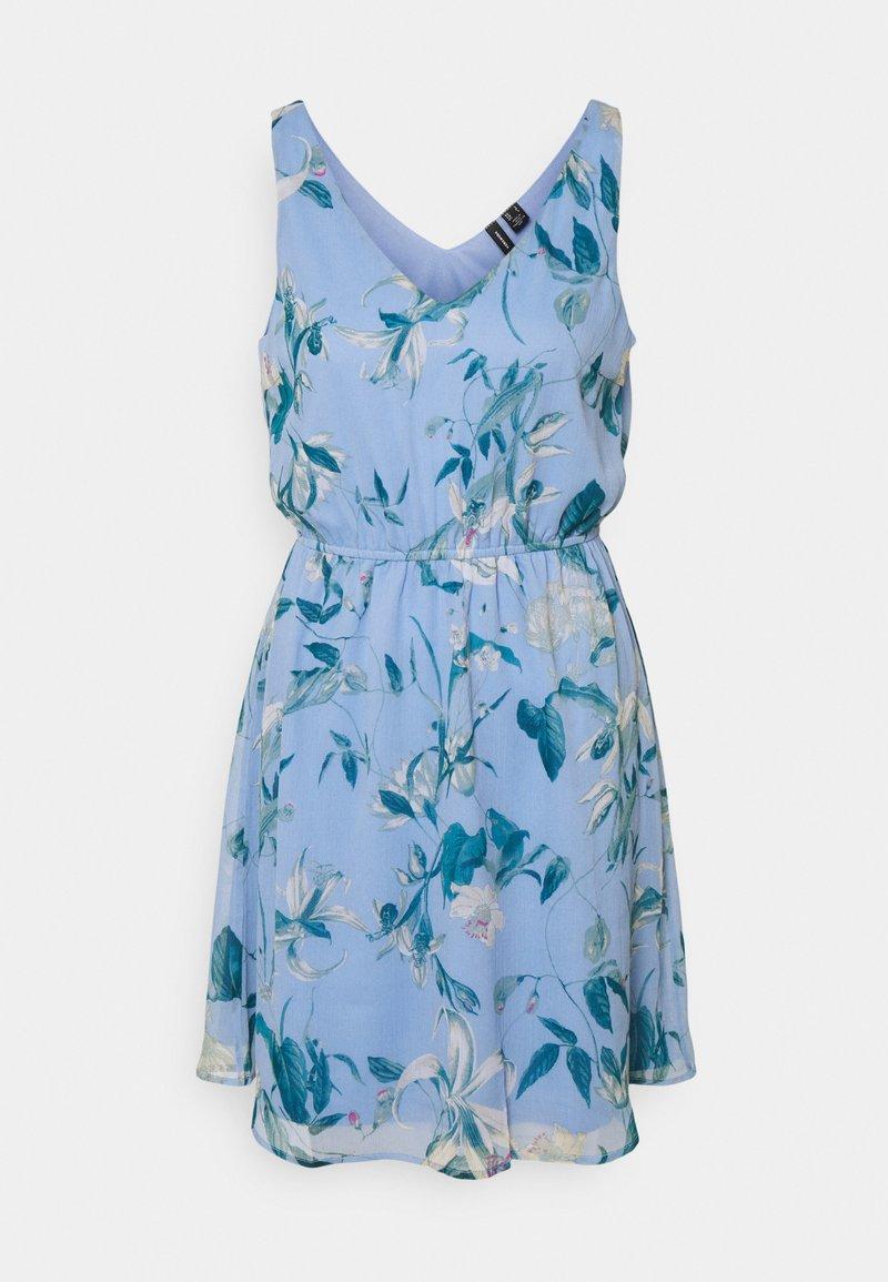 Vero Moda - VMWONDA NEW SINGLET SHORT DRESS - Vapaa-ajan mekko - grapemist/debbie