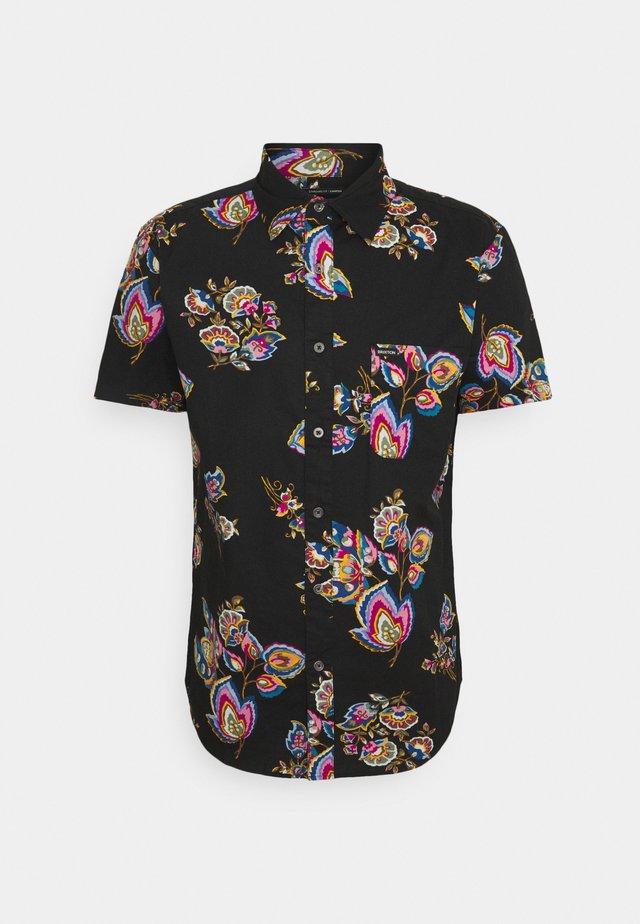 CHARTER PRINT - Overhemd - black/purple