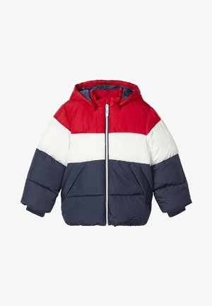 Winter jacket - red dahlia