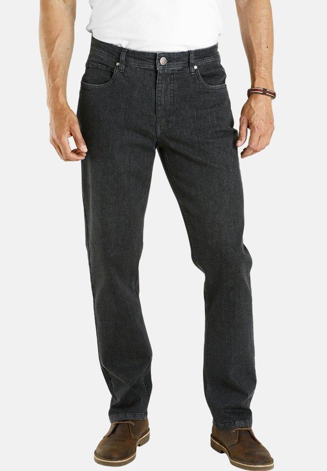 ALMIN - Straight leg jeans - schwarz