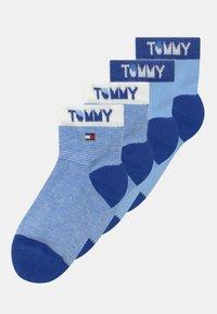 Tommy Hilfiger - WORDING 4 PACK UNISEX - Socks - blue - 0