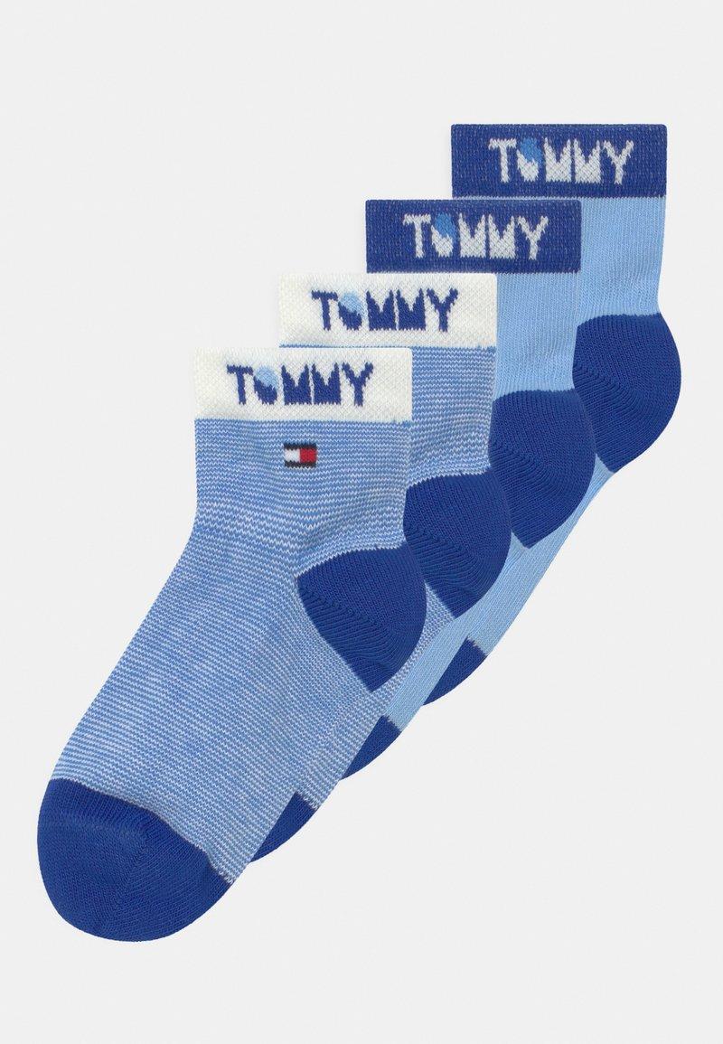 Tommy Hilfiger - WORDING 4 PACK UNISEX - Socks - blue