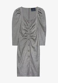 Uterqüe - MIT SCHMUCKKNOPF - Shirt dress - grey - 5