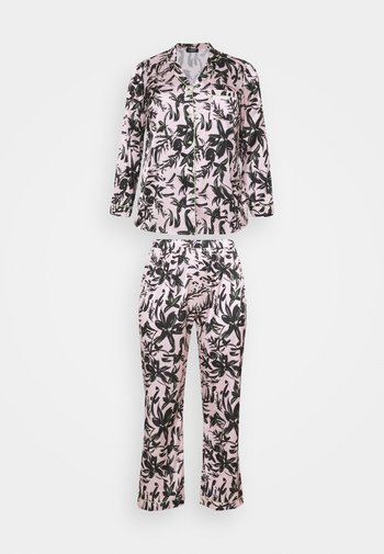 PRETTY SECRETS BUTTON THROUGH - Pyjamas - pink/black