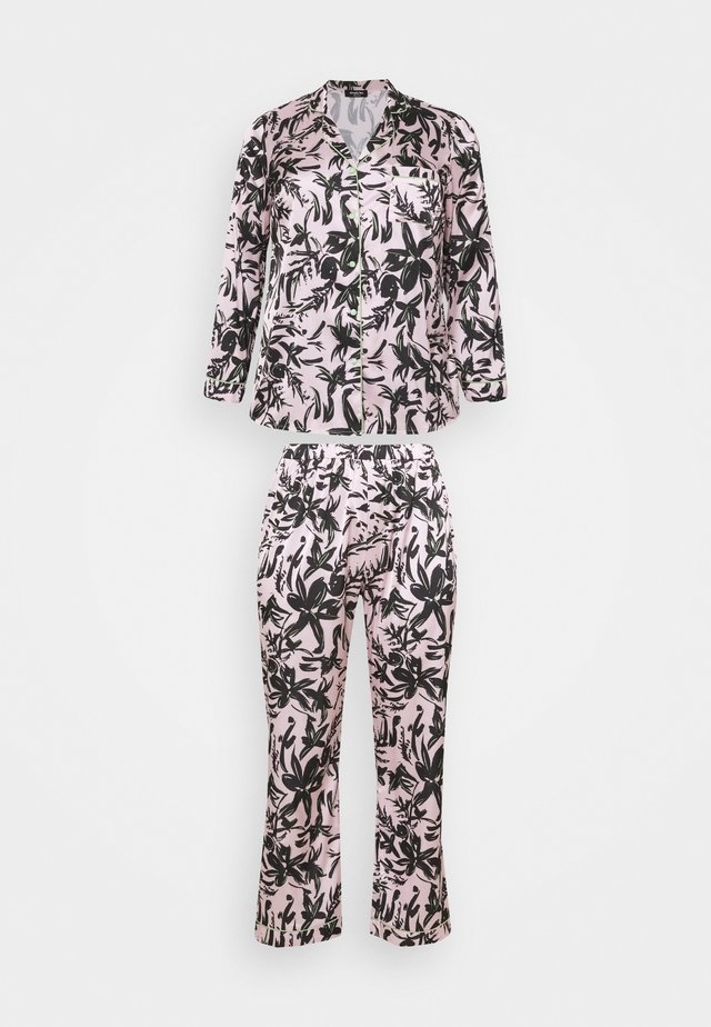 PRETTY SECRETS BUTTON THROUGH - Pyžamo - pink/black
