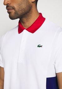 Lacoste Sport - TENINS  - Funkční triko - white/red/cosmic black - 5