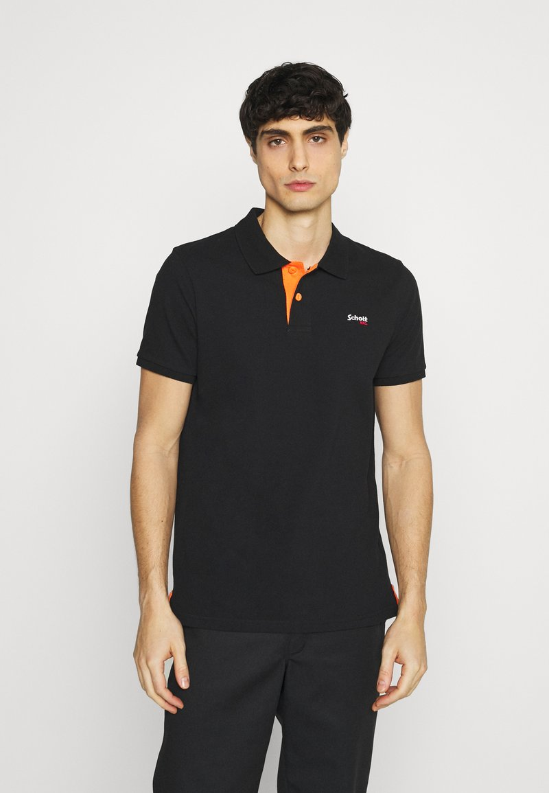 Schott - PSMILTON - Polo shirt - black/orange