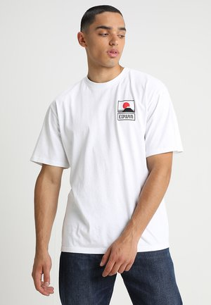 UNISEX SUNSET ON FUJI  - Print T-shirt - white
