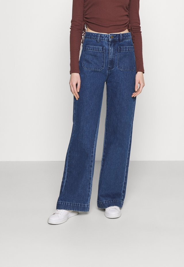 SAILOR LONG - Flared Jeans - brooke blue