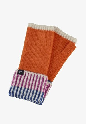 Fingerless gloves - orange