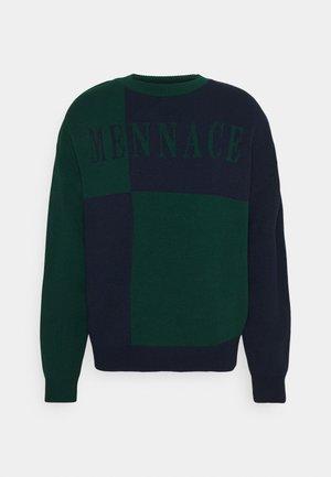 QUARTER PANEL GOTHIC TEXT CREW NECK - Maglione - dark green