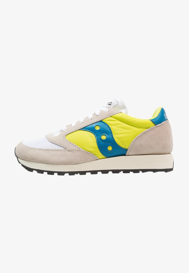 Saucony - JAZZ ORIGINAL VINTAGE - Trainers - white/neon yellow