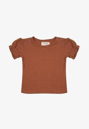 T-shirt print - amber brown