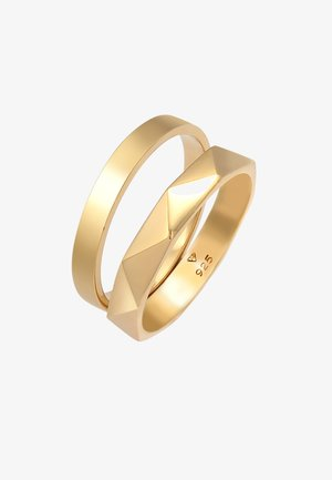 2 PACK BASIC - Pierścionek - gold