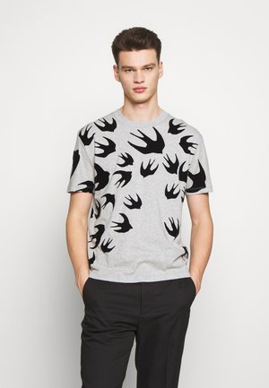 SWALLOW DROPPED SHOULDER - Print T-shirt - mercury