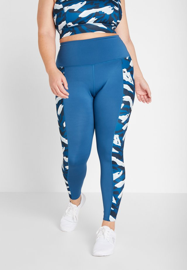HIGH WAIST PRINT PANEL LEGGINGS CURVE - Leggings - abstract animal