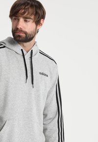 adidas Performance - Mikina s kapucí - medium grey heather/black - 3