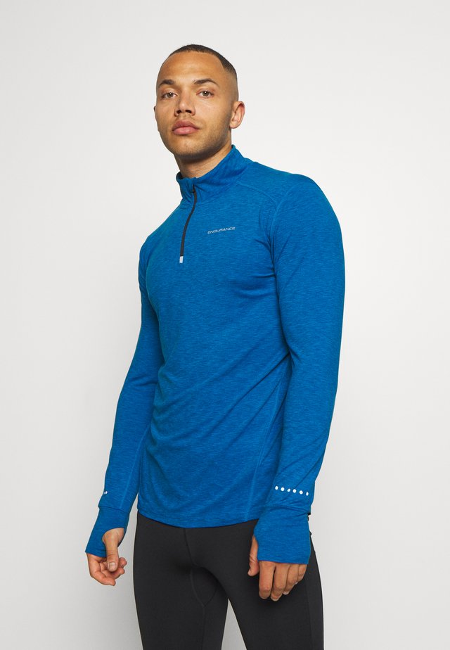 ABBAS PRINTED MIDLAYER - Sports shirt - imperial blue