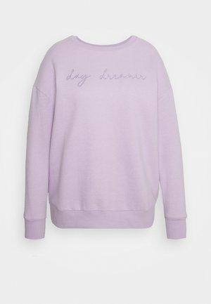 EBROIDERED CREW - Sweater - lilac