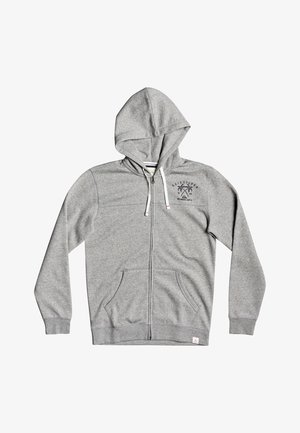 Zip-up hoodie - medium grey heather