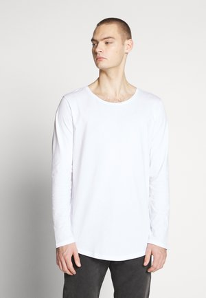 SHAPED TEE - Long sleeved top - white