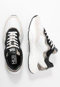 HUB - ROCK - Trainers - offwhite/cheetah/black - 3
