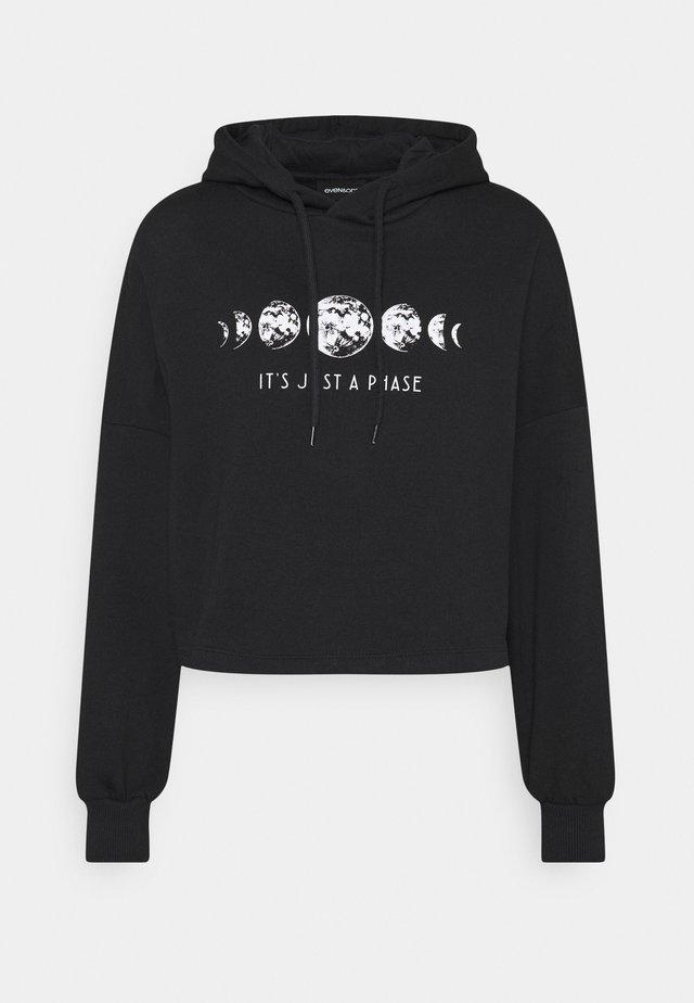 Loose Fit Printed Sweatshirt - Sweatshirt - black