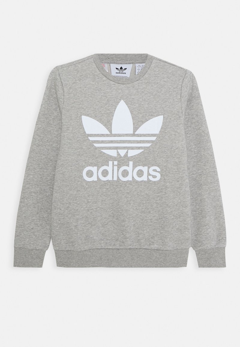 adidas Originals - TREFOIL CREW - Sudadera - medium grey heather