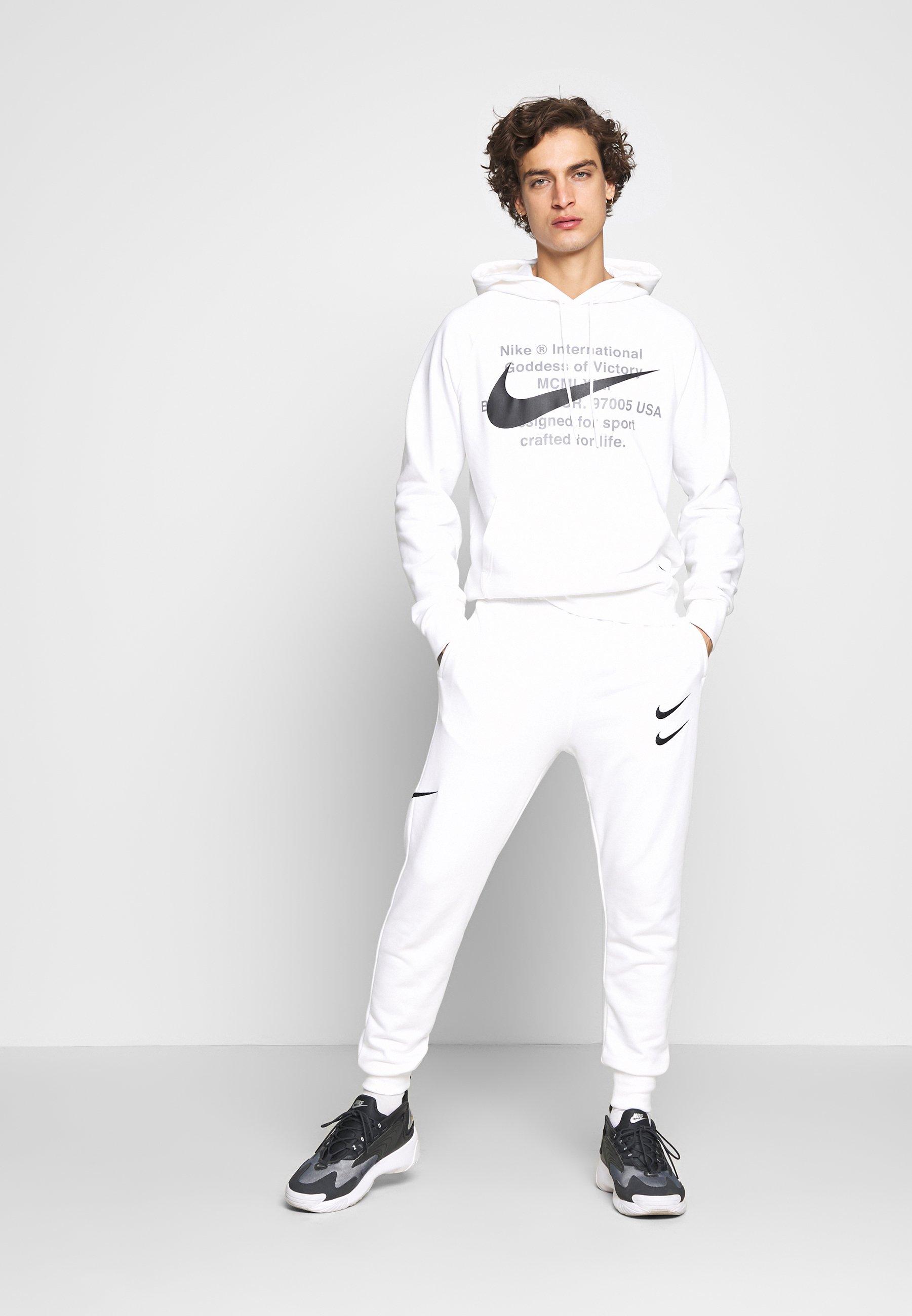 Nike Sportswear M NSW PANT FT - Pantalon de survêtement - white/black