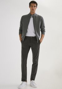 Massimo Dutti - SLIM FIT - Chinos - dark grey - 1