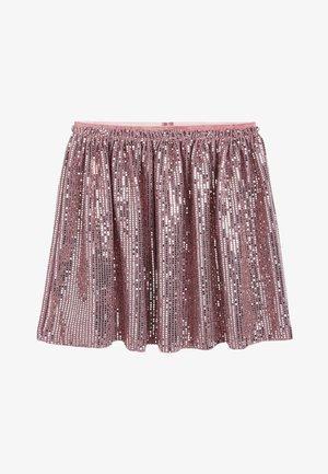 SILVER/BLACK FOIL  - A-line skirt - pink