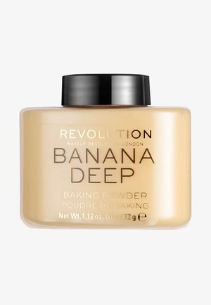 LOOSE BAKING POWDER - Setting spray & powder - banana (deep)