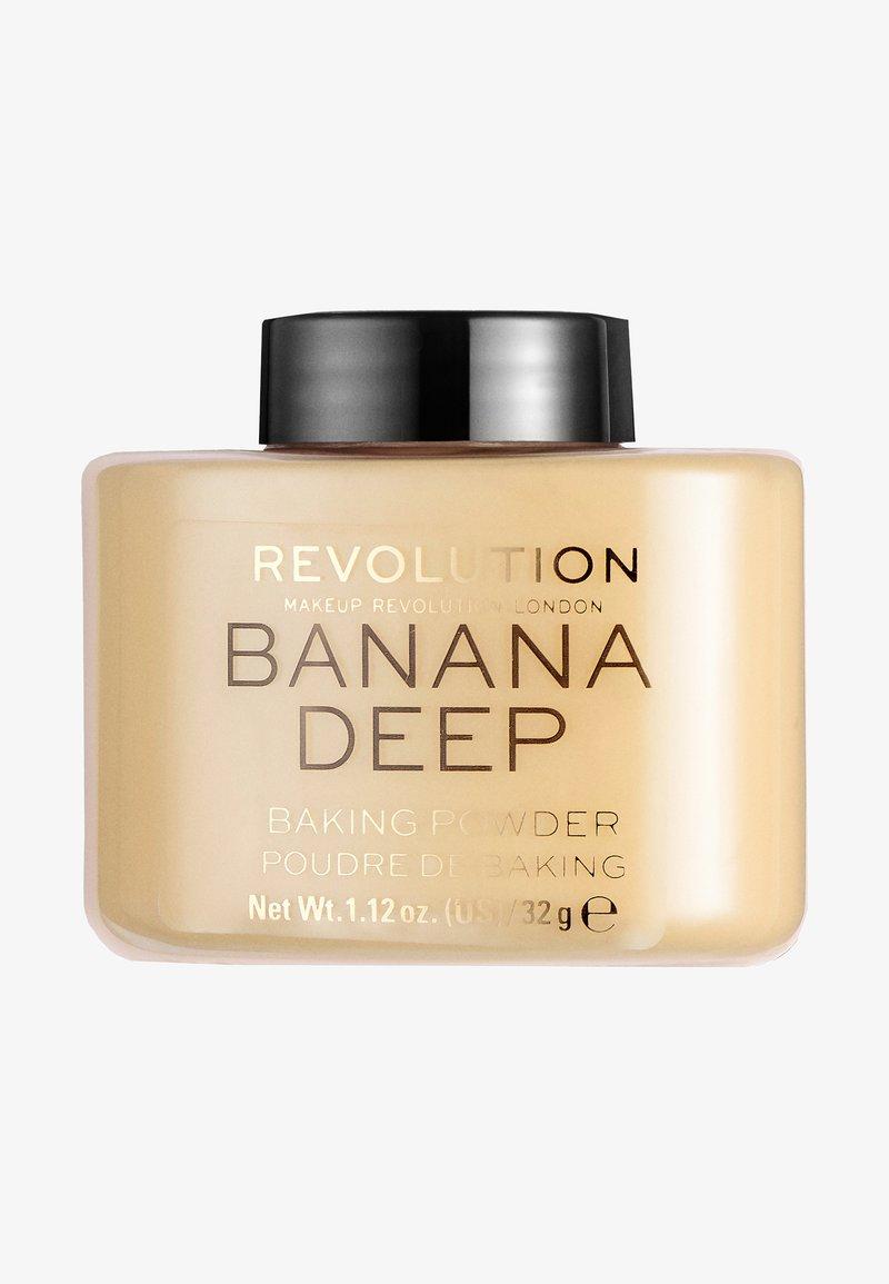 Make up Revolution - LOOSE BAKING POWDER - Setting spray & powder - banana (deep)