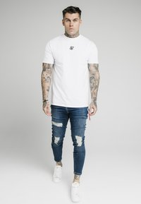 SIKSILK - DISTRESSED  WITH ZIP DETAIL - Jeans Skinny Fit - midstone blue - 1
