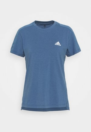 Basic T-shirt - blu/white