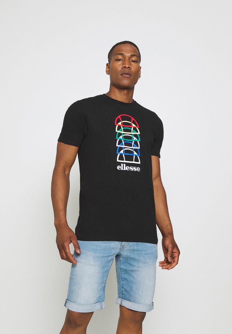 Ellesse - MAGARIO TEE - Print T-shirt - black