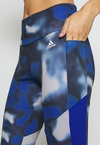 adidas Performance - AEROREADY TRAINING SPORTS - Leggings - royblue/white - 4
