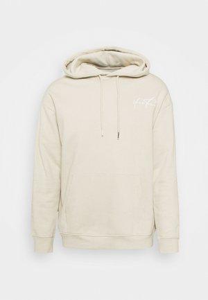 BOLD SCRIPT HOODIE UNISEX - Sweatshirt - beige