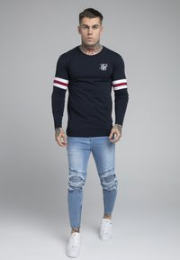 SIKSILK - BIKER - Vaqueros pitillo - light wash - 1
