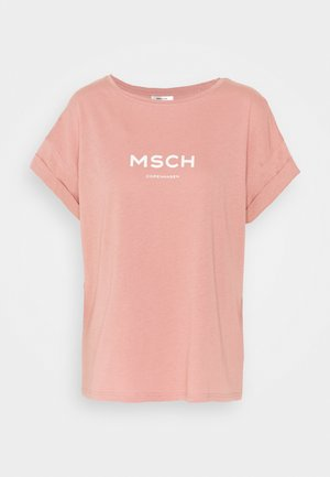 NANETTE ALVA LOGO TEE - Print T-shirt - ash rose/egret