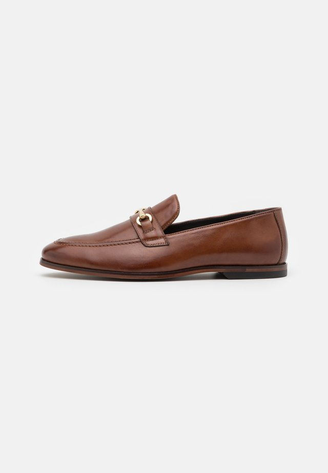 LEATHER - Business loafers - brown