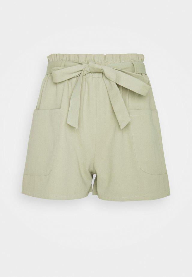 TIE WAIST  - Shorts - khaki