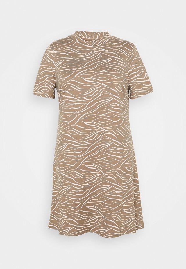 SOFT TOUCH HIGH NECK SWING DRESS - Sukienka z dżerseju - truffle