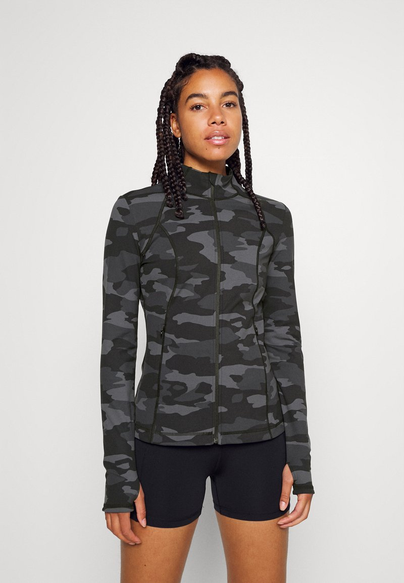 Sweaty Betty - POWER WORKOUT ZIP THROUGH JACKET - Sportovní bunda - black tonal