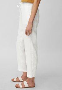 Marc O'Polo - Trousers - white linen - 3