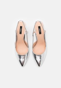 ONLY SHOES - ONLPEACHES SLING BACK - Høye hæler - silver - 5
