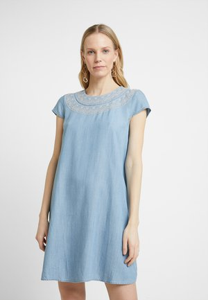 MIDI DRESS - Denim dress - blue light wash
