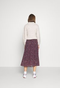 Dorothy Perkins - FLORAL PLEAT MIDI SKIRT - A-line skirt - pink - 2